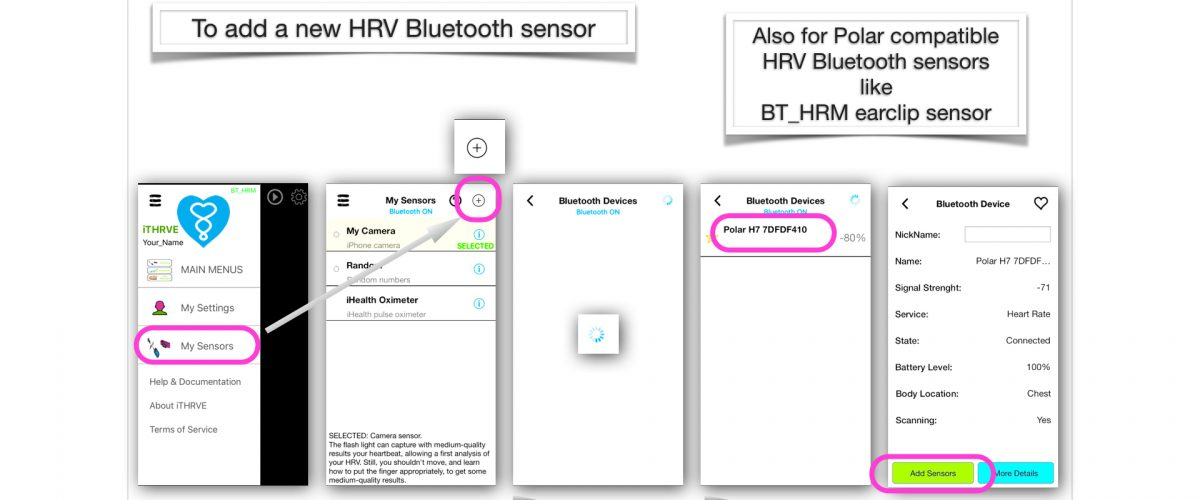 Sensors for iTHRVE stress mangement app - iTHRVE